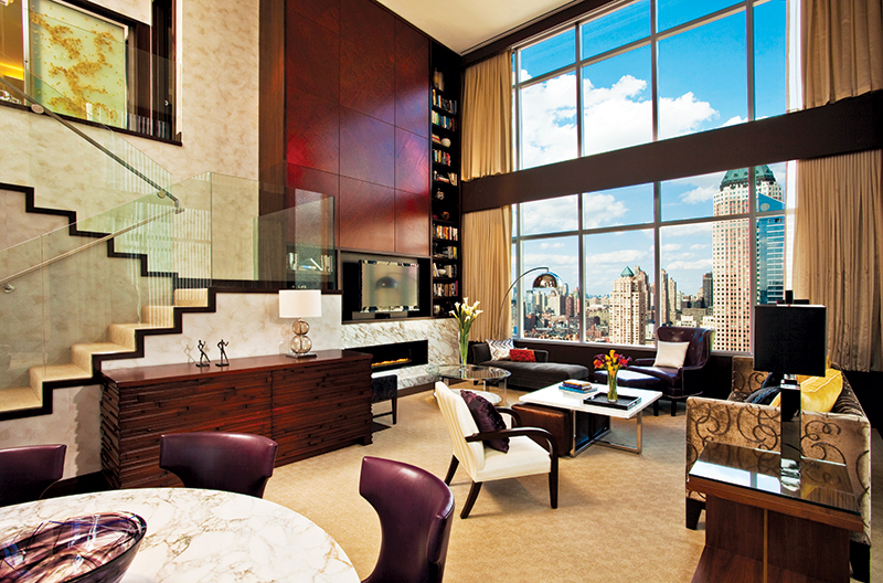 The luxurious penthouse at InterContinental New York Times Square