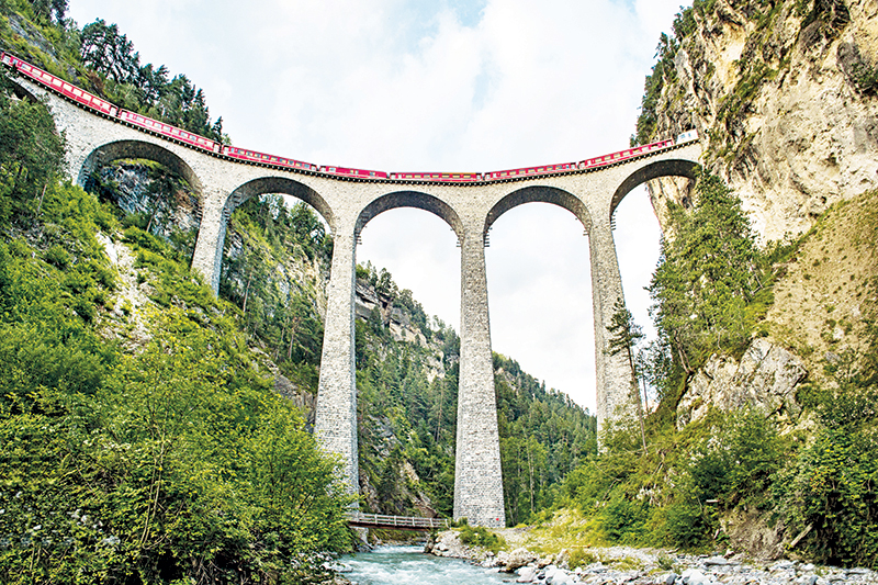Agents are being encouraged to learn about and market train travel in Switzerland.