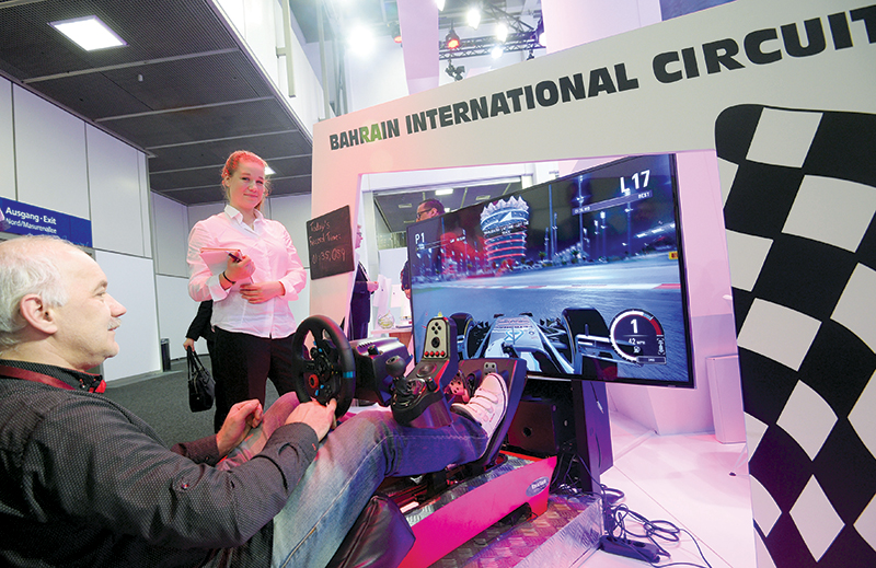 Last year at ITB Berlin, the Bahrain stand featured an exciting motor sport simulator, promoting the country's international circuit