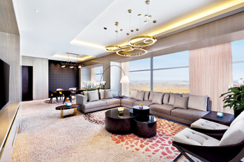 The view from the presidential suite in AlRayyan Hotel Doha