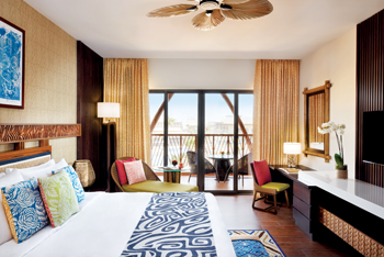 A deluxe king room in Lapita, Dubai Parks and Resorts, an Autograph Collection Hotel