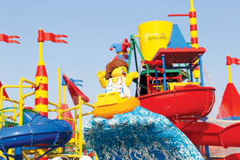 Legoland Water Park recently opened in Dubai with more than 20 water slides and attractions