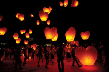 The Lantern Festival takes place in Taiwan from February 11 to 19 this year