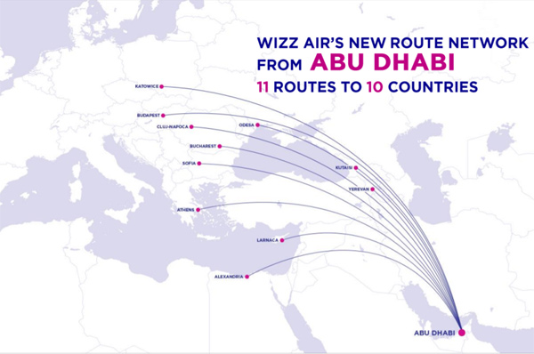 Travel Tourism Hospitality Wizz Air Abu Dhabi To Fly 6 Routes From Oct 1